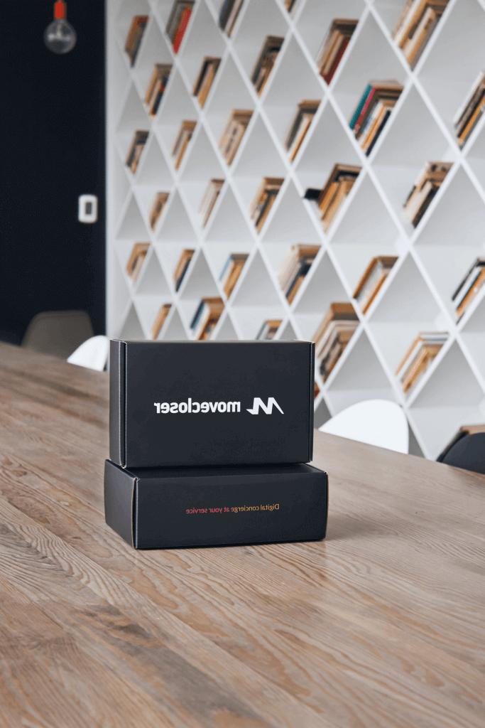 cajas de bienvenida a la empresa