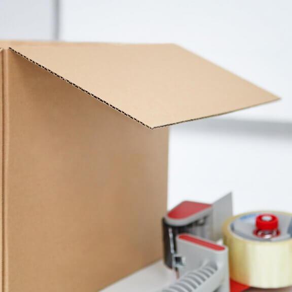 Caisse carton avec simple ou double cannelure