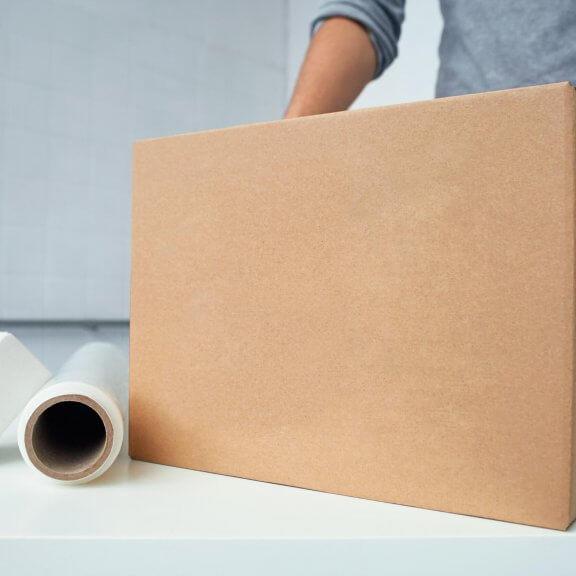 scatola per spedizioni senza stampa