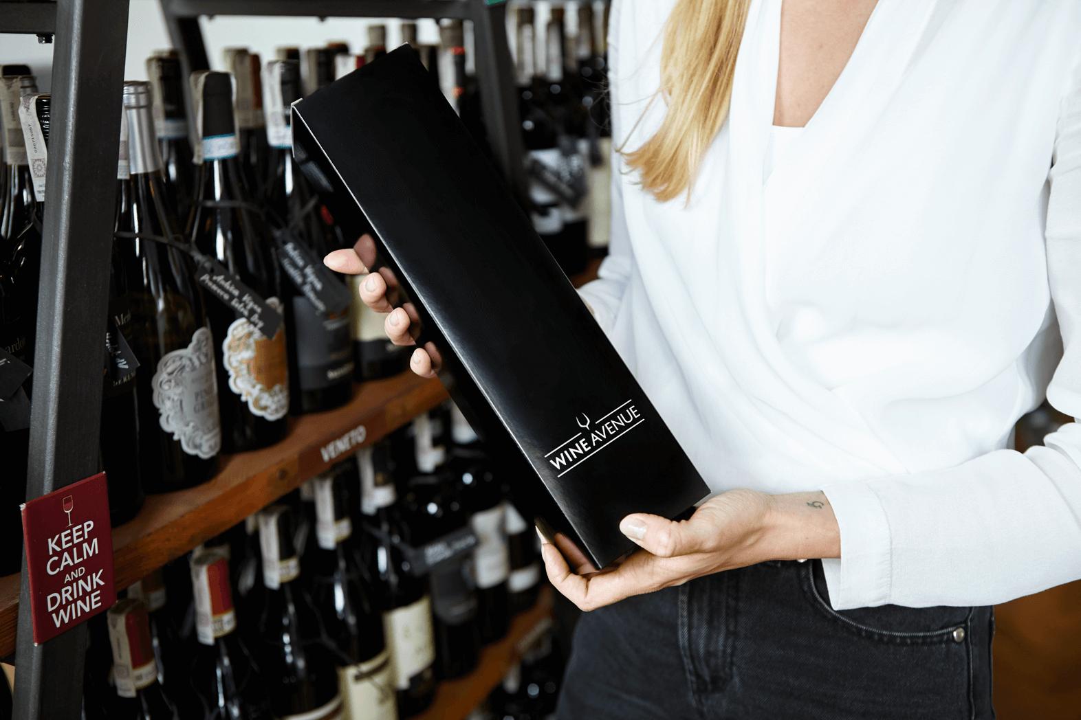 Weinverpackungen mit Aufdruck