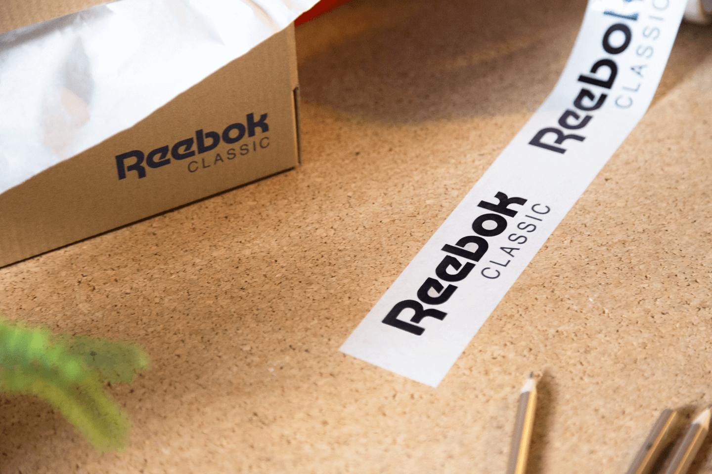 Ruban adhésif personnalisé avec le logo Reebok