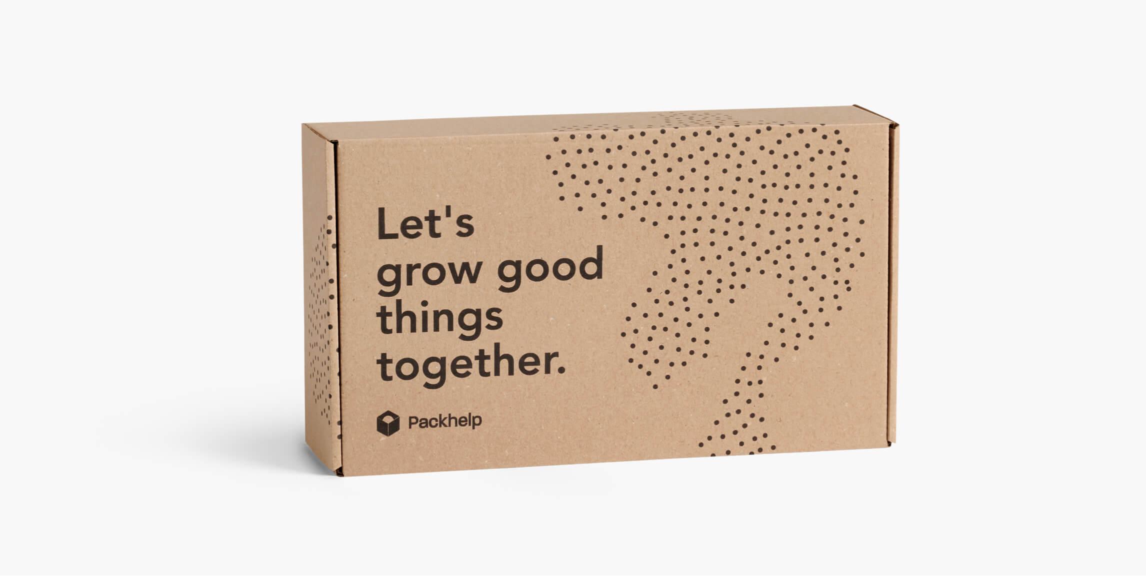 Eco poštovní krabice - vlastní balení - Packhelp