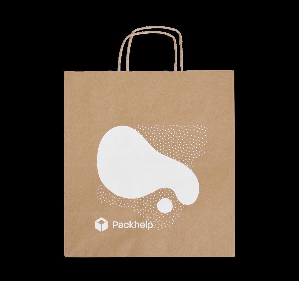 Sacs kraft à poignées torsadées - emballage personnalisé pour produits - Packhelp