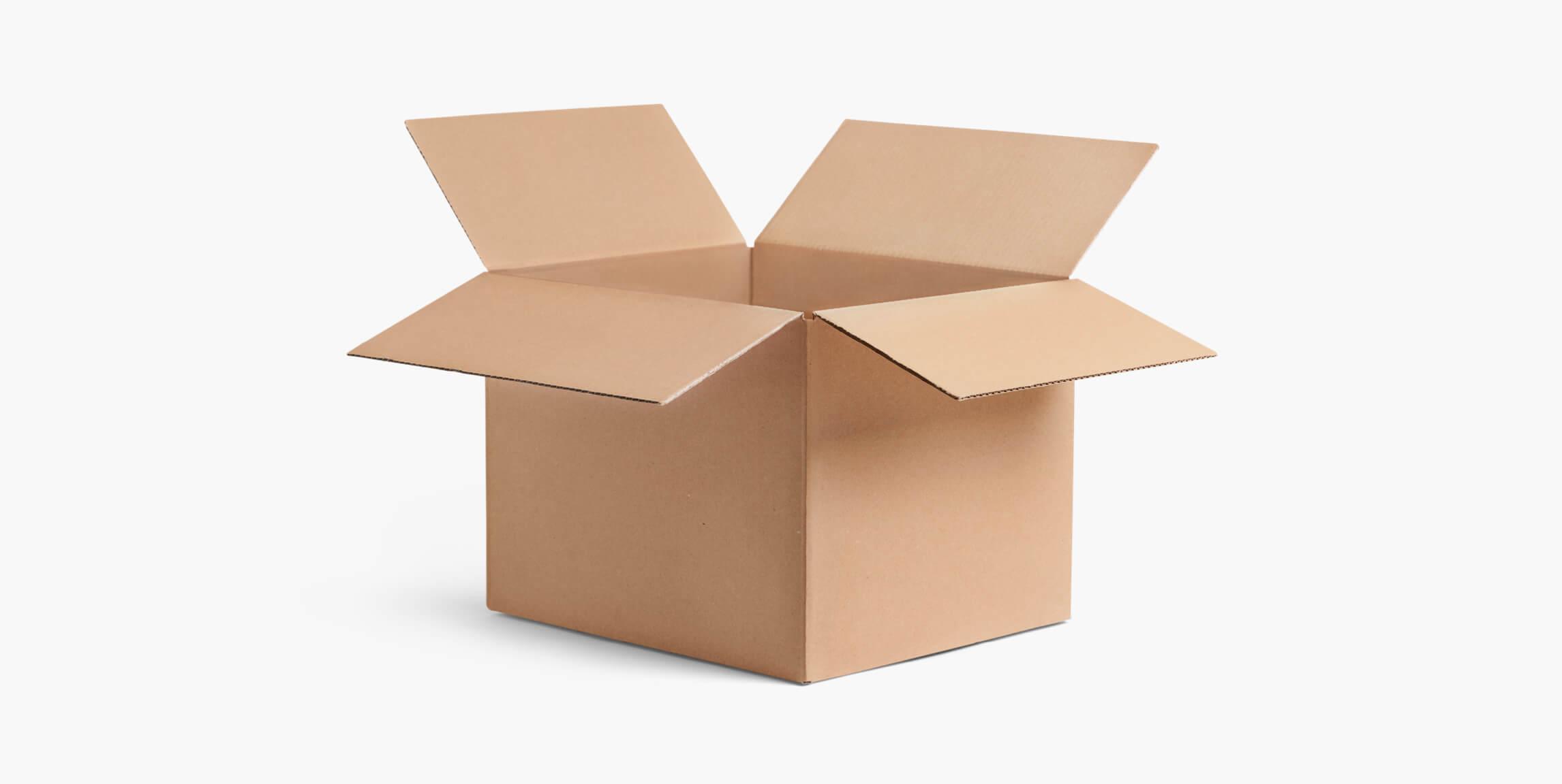 Caisse carton sans impression - emballage personnalisé pour produits - Packhelp