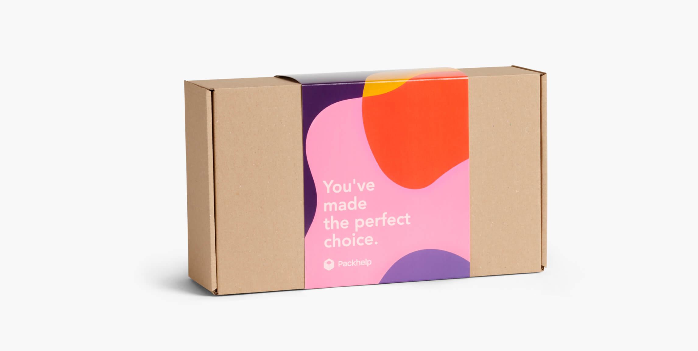 Cajas con faja de cartón pequeñas