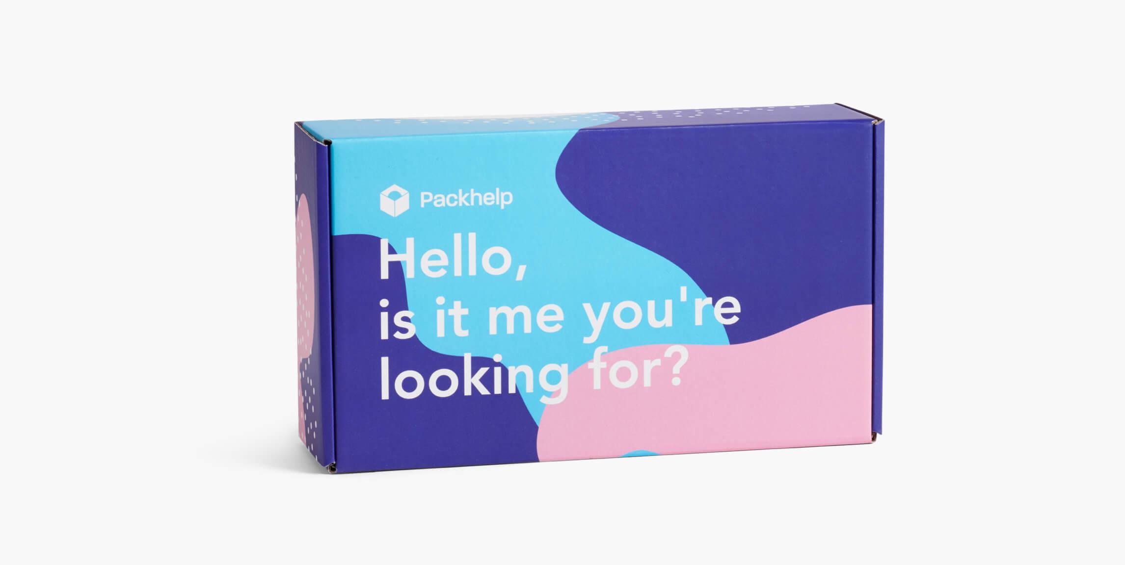 Scatola postale colorata - scatole personalizzate - Packhelp