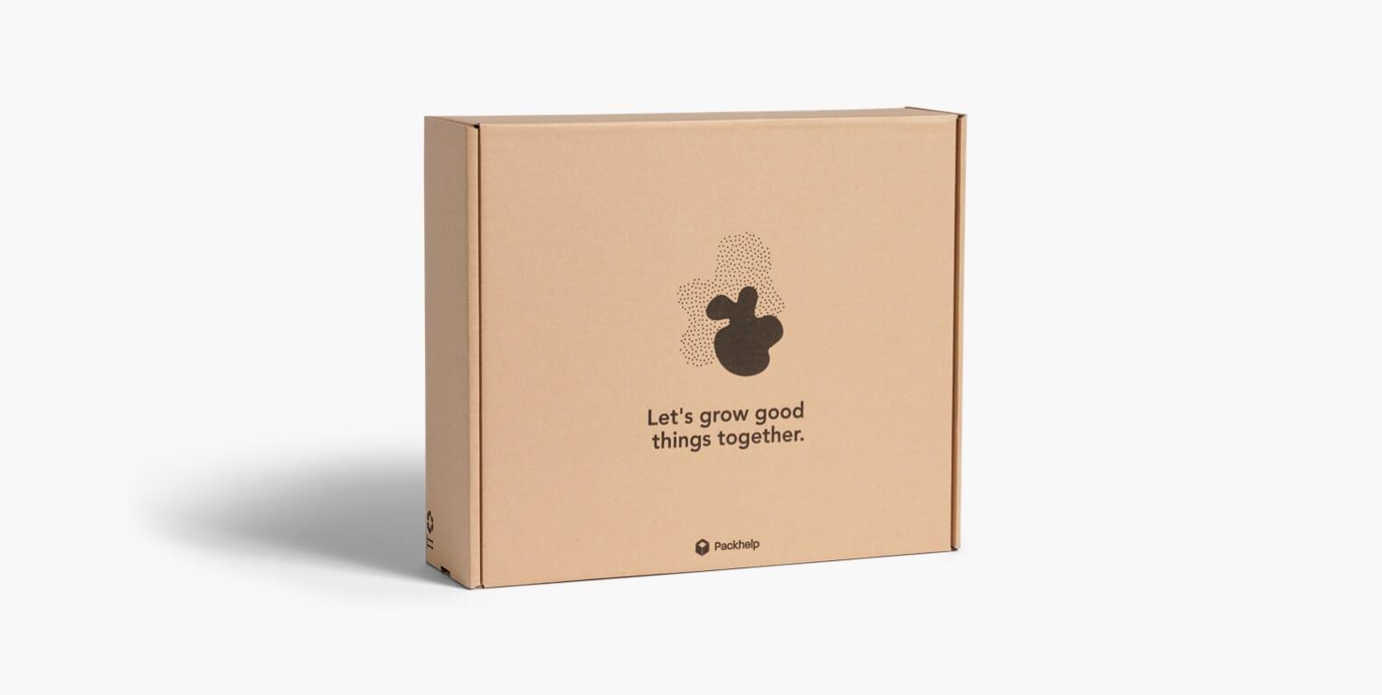 Boîte postale en carton couleur kraft