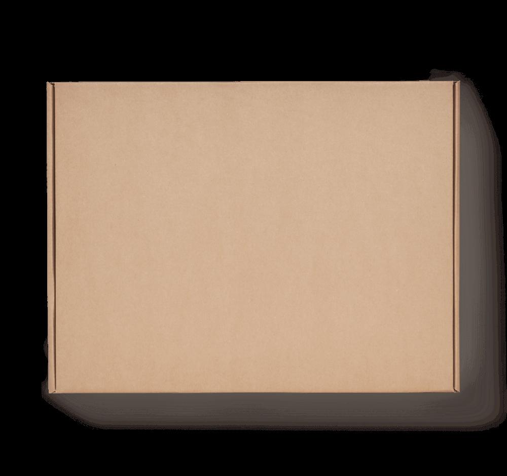 Boîte postale en carton sans impression couleur kraft