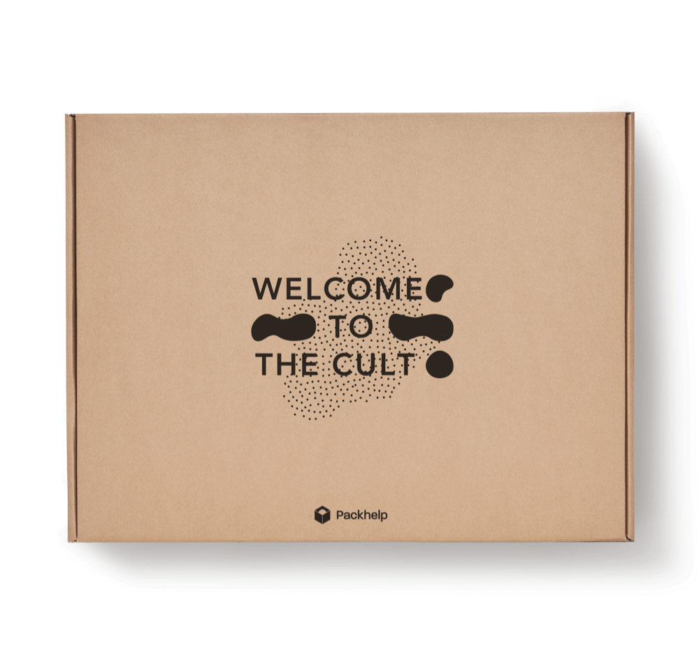 kraft ecommerce delivery box with print