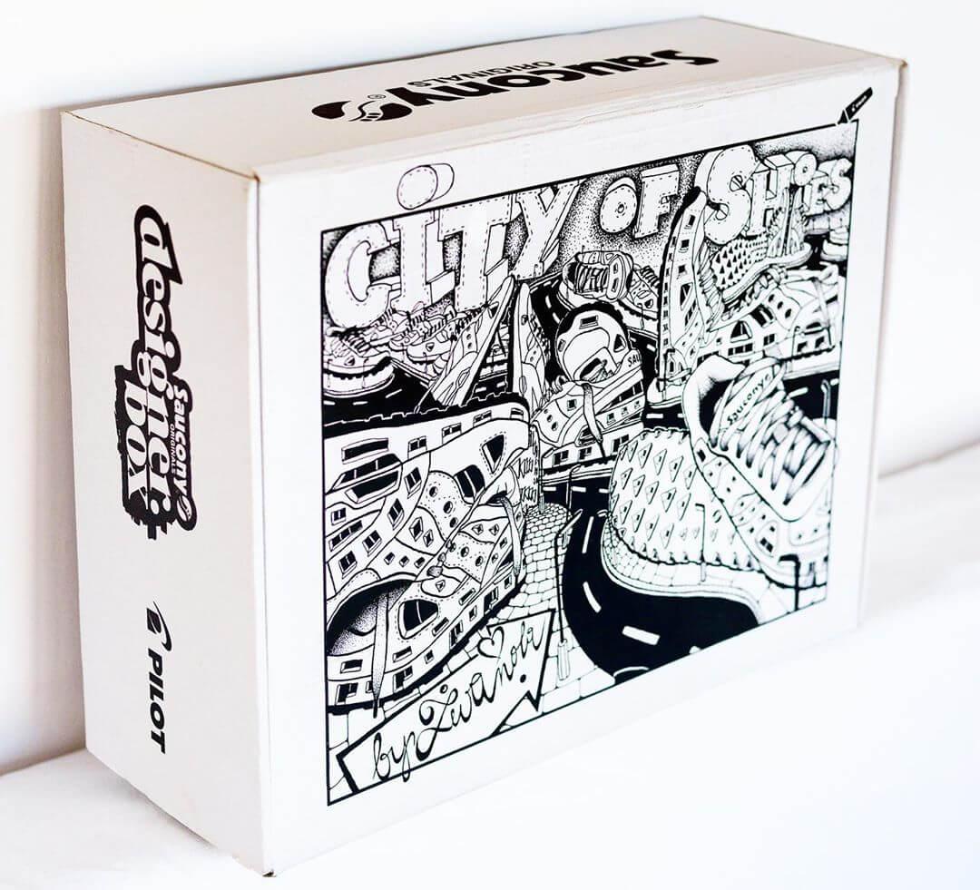 Design scatola Saucony originals