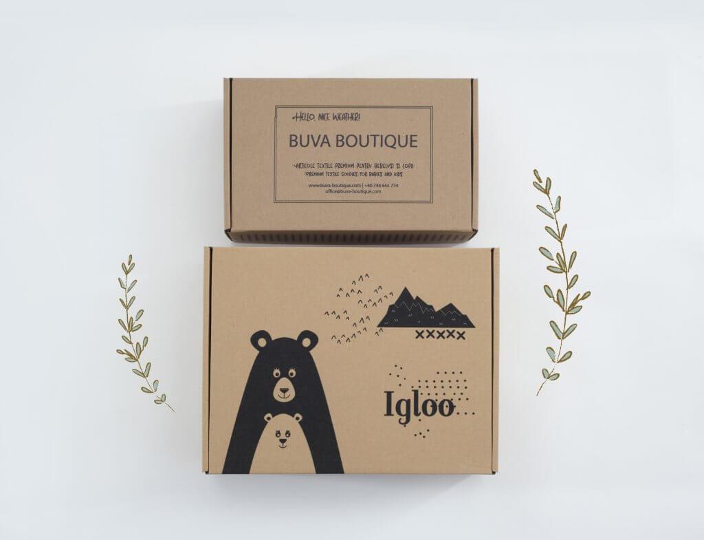 Scatola postale eco con design Buva Boutique