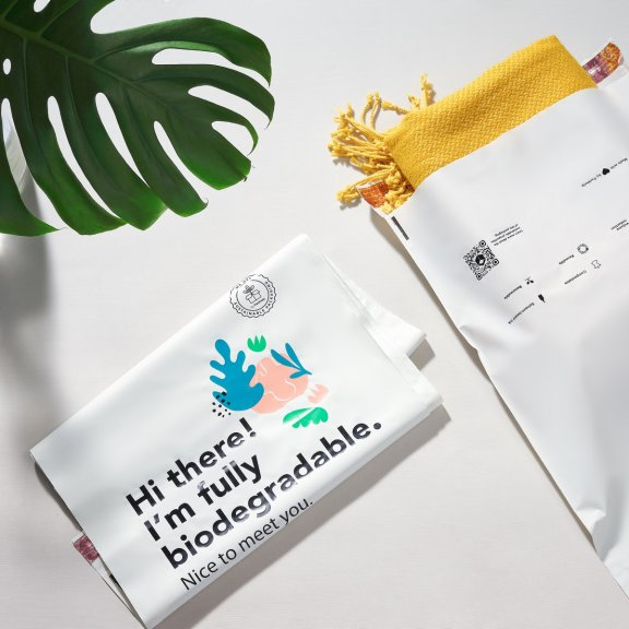 how to use a pre printed bio poly mailer