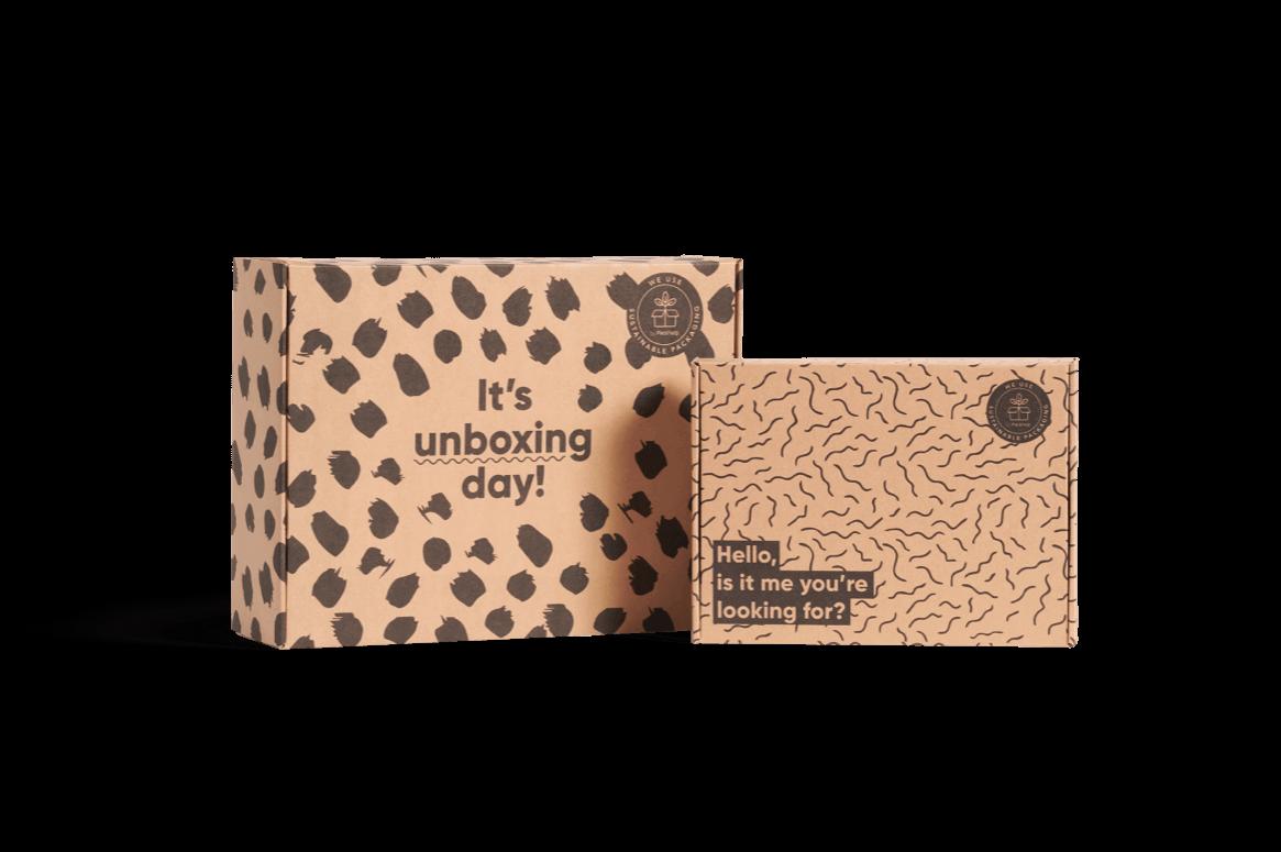 caja para envíos con diseño personalizado