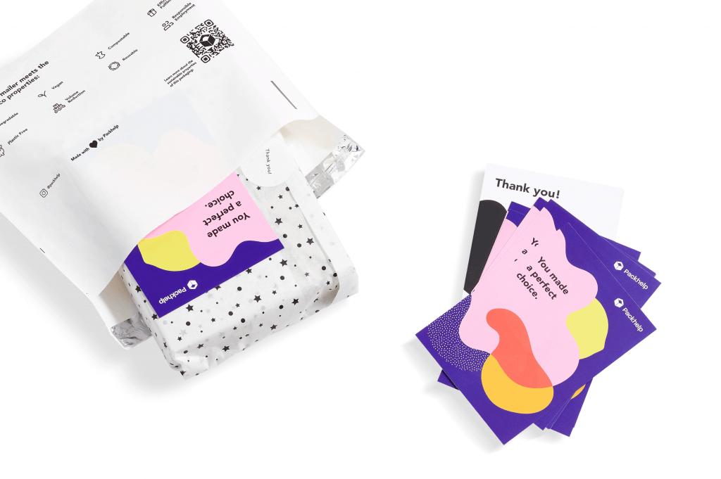 Personalisierte Dankeskarten für Versandbeutel