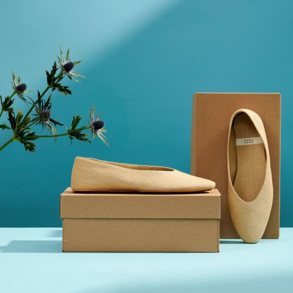 Kraft shoe boxes with flats