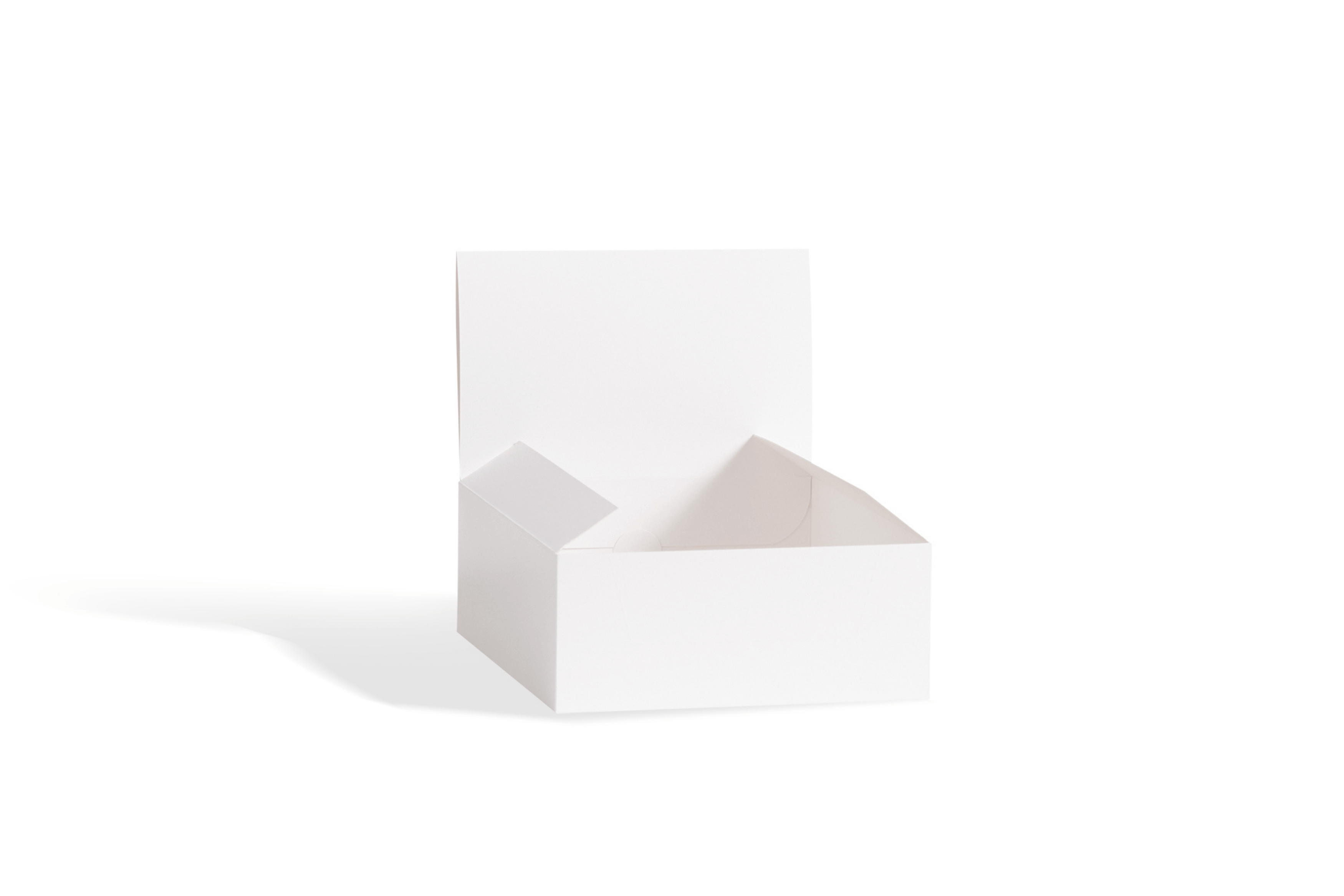 White counter display box