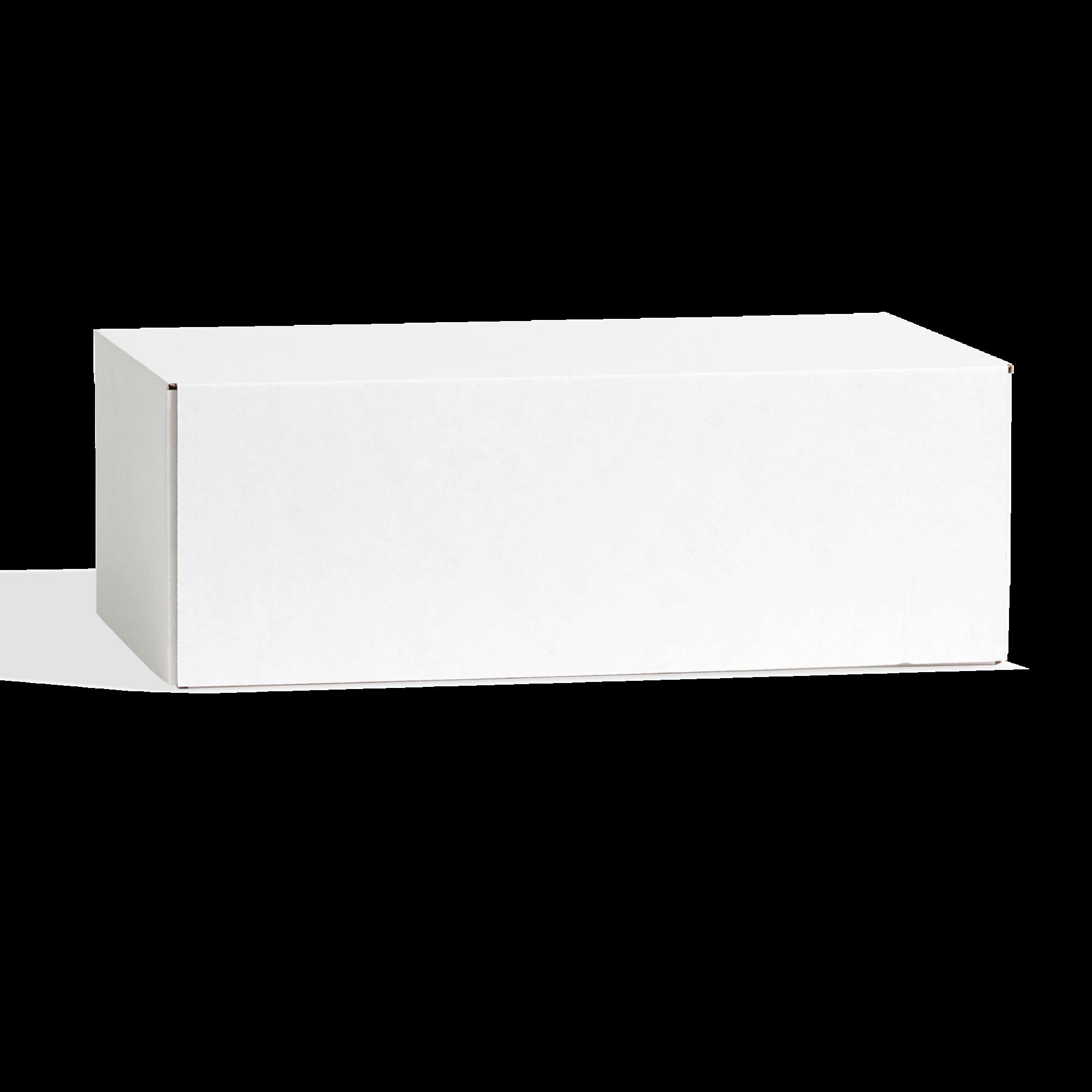 White customizable shoe box with deep lid