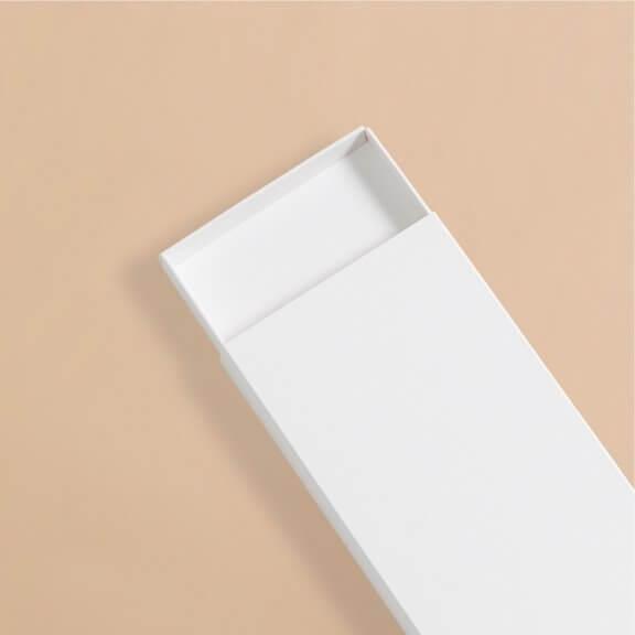 white chocolate bar box with drawer tray
