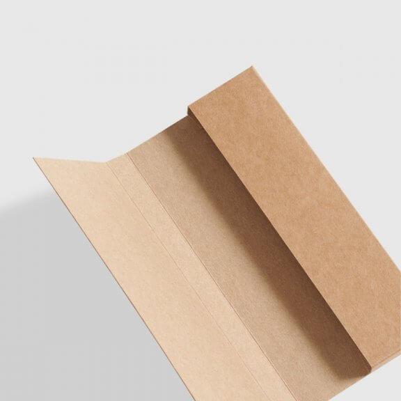 kraft chocolate bar box with fold-over flap