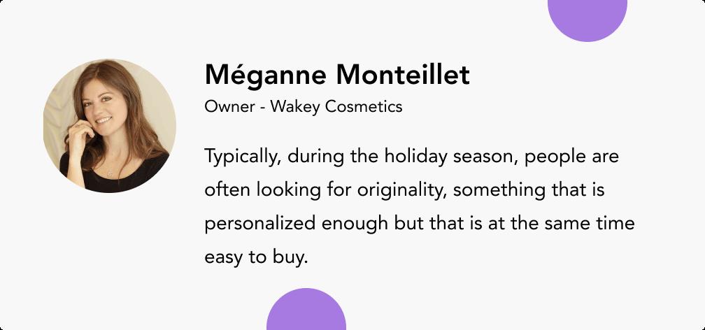 Méganne Monteillet wakey cosmetics