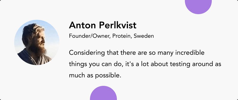 Anton Perlkvist proteinse