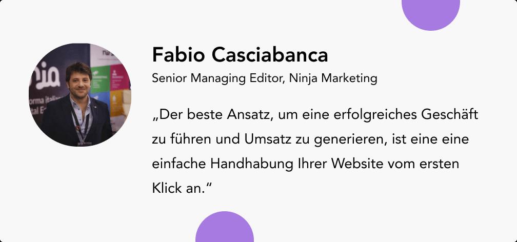 Umsatz steigern mit Fabio Casciabanca Ninja Marketing