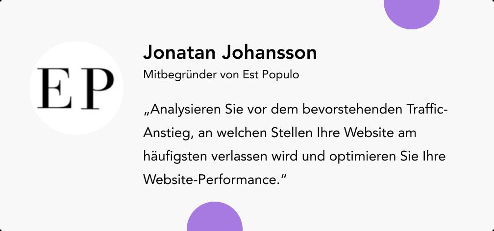 Jonatan Johansson Est Populo
