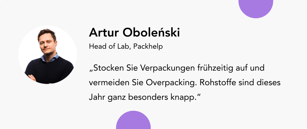 Umsatz steigern mit Artur Obolenski Packhelp
