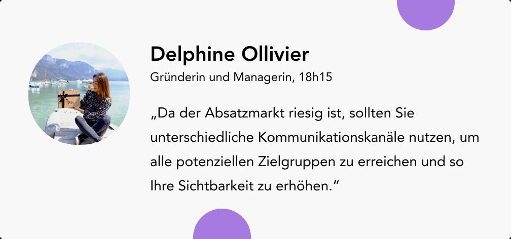 Umsatz steigern mit Delphine Ollivier