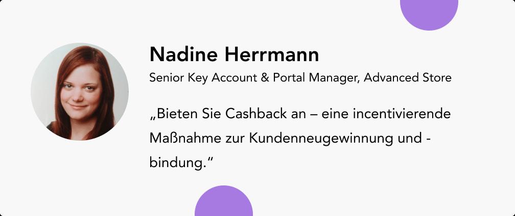 Umsatz steigern mit Nadine Herrmann Advanced Store